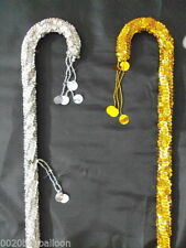 2 pcs Belly Dance Canes Sticks Egyptian High Quality Decorated Sequins Beads