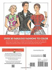 Creative Haven Fabulous Fashions of the 1950s Coloring Book Adult Coloring
