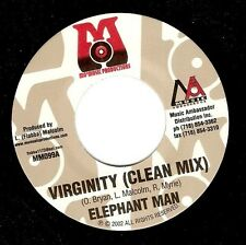 ELEPHANT MAN Virginity Vinyl Record 7 Inch US Mo' Music Productions MM099 2002
