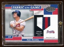 2002 CERTIFIED DALE MURPHY 3 COLOR PATCH LOGO RC DEBUT YEAR 1976 RARE BRAVES !