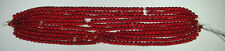 """500 5mm Red """"DRUK"""" Glass beads MAKE YOUE OWN WALLEYE LURES - BAITS - PERCH"""