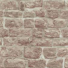 Erismann Wallpaper - Rustic Beige Bricks / Stone Wall - Luxury Textured -5818-11