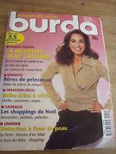 MAGAZINE BURDA TENDANCES CLASSIQUES EN CAMEL & OR/ CHOC DES STYLES DECEMBRE 2000