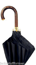 Concord Sierra Chestnut Handle Handcrafted Mens Black Umbrella