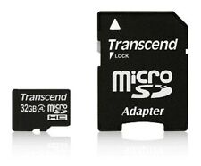 Transcend MicroSD SDHC 32GB Class 4 Memory Card with Adapter for Smartphones