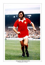 GEORGE BEST MANCHESTER UNITED A4 PRINT PHOTO CAREER STATS 2 MAN UTD GIFT FOR HIM