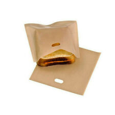 2 pcs Toastbeutel Wiederverwendbar, Toast Bag, Sandwich,No Stick Tüten Set