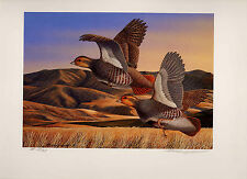IDAHO #9 1996 STATE UPLAND GAME PRINT GREY PARTRIDGE NO STAMP By Richard Clifton
