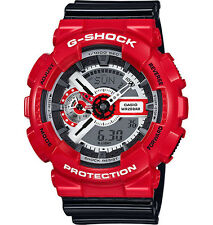 Casio GA110RD-4A Men's Black/Red World Time Alarm Chronograph G Shock Watch
