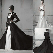 Excellent Medieval Gothic Wedding Dress Sweetheart White And Black Bridal Gown