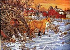Counted Cross Stitch Kit THE HIDING PLACE Fox in the Country
