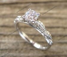 Women's Diamond Solitaire Engagement & Wedding Ring 10K White Gold Over 1 Carat
