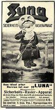 R. Braun Wien I. Luna Sicherheits- Rasier- Apparat Historische Annonce 1909