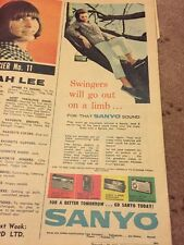 Vintage 1966 Sanyo Radio Australian Print Advertisement Transistor