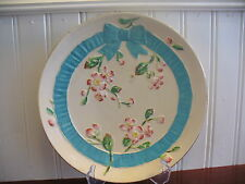 Vintage Hand Painted Pottery Cherry Blossoms Accent Plate