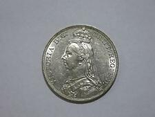 GREAT BRITAIN 1889 VICTORIA CROWN ROYAL MINT SILVER COIN FROM OLD COLLECTION LOT