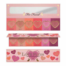 Too Faced 6 Colors Heart Love Plush Eyeshadow Palette Long Lasting Shimmer Matte