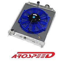 AROSPEED ALUMINUM DUAL CORE RADIATOR + BL SLIM FAN FOR 92-95 HONDA CIVIC
