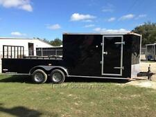 NEW 2016 7X20 7 X 20 HYBRID ENCLOSED & UTILITY CARGO MOTORCYCLE HUNTING TRAILER