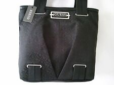 NEW GUESS AVERSA  BLACK Jacquard  large Tote Handbag
