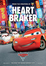"Pixar Disney Cars 2 [ 8.5"" x 11"" ] Mini Movie Poster - T7"