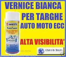 VERNICE BOMBOLETTA SPRAY BIANCA PERLA PER TARGHE AUTO MOTO TARGA SCOOTER VESPA
