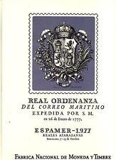 DOCUMENTO FILATELICO F.N.M.T. Nº2 ESPAMER 77