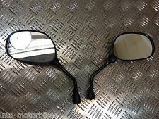 Yamaha SR SRV SRX XVS 125 250 400 500 600 Mirrors Pair Black 10mm Fixing