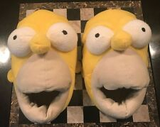 Novelty Homer Simpson Slippers Yellow Adult Funny Plush Big Mouth Shoes Small