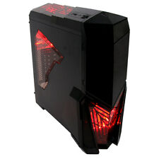 Game Max Destroyer Mid Tower PC Gaming Case With Window 4 Fans USB3 Red LED