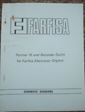 Farfisa Electronic Organ Schematic diagrams Partner 15 and Recorder Outfit 1975