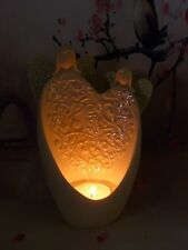 PartyLite Kindness Angel Bisque Porcelain Tealight Candle Holder ~ Mint In Box