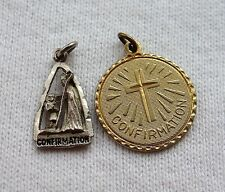 Vintage Catholic Confirmation Pendant Charm Lot 1 Sterling Silver Vtg Free Ship