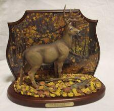 """Danbury Mint """"Golden Sentinel"""" Deer Sculpture by Bruce Miller"""