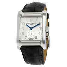 Baume and Mercier Hampton Black Leather Mens Watch MOA10026