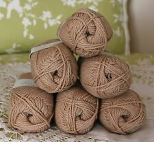 "$78 Lot--6 Skeins Rowan Purelife Organic Wool ""Black Tea"" Yarn + Free Gift!"
