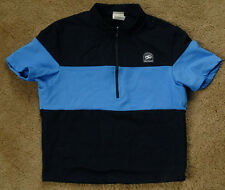 SUGOI short sleeve size M blue black 1/2 zip shirt jersey made in Canada