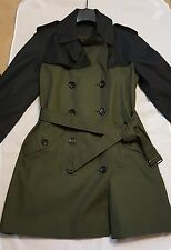 Coach Colorblock Trench Coat Military Multi F86035 NWT