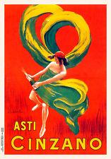 Asti Cinzano by Leonetto Cappiello Vintage French Poster A1+ Art Print