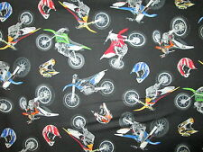 MOTOCROSS MOTORCYCLE HELMET DIRT BIKE RACING BLACK COTTON FABRIC FQ