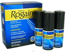 ROGAINE Mens Extra Strength 5% Minoxidil Topical Solution 3 Month Supply Exp.018
