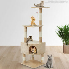 Cat Tree Kitten Scratching Post Toy Bed Climbing Activity Centre Cattree 130cm