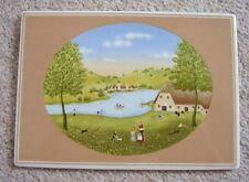 W.Germany Villeroy&Boch Galerie Porcelain Plaque-tile-picture,handpainted,signed