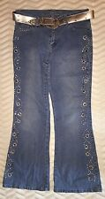 Girls Jeans With Stones And Stone Diamond Belt S 10 1/2 Plus By Arizona Jean Com