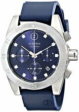 Electric Men's DW01 Navy Chronograph Round Sports Dive Watch Rubber Strap Date