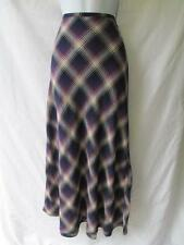 The Limited Plaid Bias Cut Maxi Skirt Curvy Purple Navy Blue Ivory Mermaid 4 s