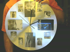 GIANT ASDA PHOTO HOLDER  WALL CLOCK GREAT XMAS GIFT ! CHARITY