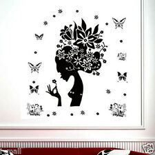 Designer Art Decor Removable Wall Decal Black Wi White