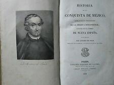 SOLIS : HISTORIA DE LA CONQUISTA DE MEJICO, 1838. 2 grandes cartes (MEXIQUE).