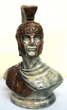 Large Reproduction Greek Roman Soldier Trojan Bust Sculpture